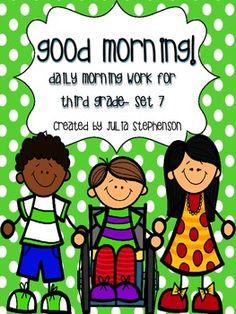 Morning Work for 3rd-4th grade