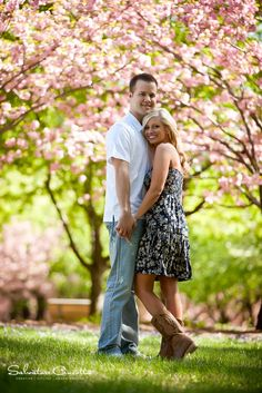 engagement photo idea love the simple, but classic wardrobe and the tree-lined path!