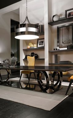FF CASA Galileo Maxi dining table and Cerva dining chairs by Dimitri Rybaltchenko