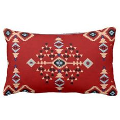 "Title : 29 Tribal Native American Red Symbolic Print.JPG Lumbar Pillow  Description : Words to describe Tribal; ""Native-American's, Indian, Tribes, ""Tribal-Prints"", ""Geometric-Patterns"", ""Miscellaneous-Shapes"", Diamonds, Squares, Arrows, ""Repetitive-Patterns"", ""Fabric-Weaving"", Tapestry, Beads, ""Animal-Bones"", ""Ethnic-Tribes"", Cultural, Cultures, ""Southwest-Patterns"", ""Animal-Pattern-Prints"", ""Ethnic-Prints"", Ganado, ""Native-Traditional-Patterns"", Ikat, ""Navajo-Art"", Weaving…"