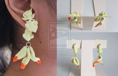Nine Tails Pokemon Polymer Clay Earrings by ArtzieRush.deviantart.com on @DeviantArt