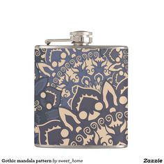 Gothic mandala pattern flask  #Home #decor #Room #Interior #decorating #Idea #Styles #Traditional #Boho #Indian #Vintage #floral #motif