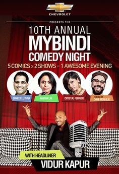 mybindi's 10th annual comedy night, a not to be missed event!!  Ck out the flyer for details.