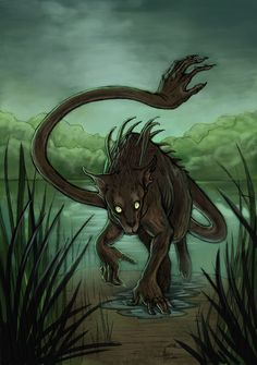 Ahuizotl: The creature is described as dog-like, its waterproof fur often clumping up to create spikes (hence its name). The ahuizotl has hands capable of manipulation and an additional hand on its tail. The ahuizotl is feared due to its liking for human flesh, especially nails, eyes, and teeth. It is said to live in or near the water and to use the hand on the end of its tail to snatch its prey, dragging the person into the depths to drown them. Victims of the ahuizotl, Aztec beliefs state…