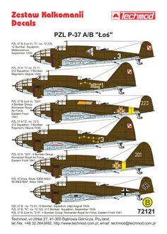 PZL-37A/B Łoś Techmod 72121