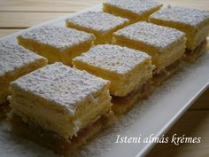 ISTENI ALMÁS KRÉMES My Recipes, Cooking Recipes, Hungarian Recipes, Hungarian Food, Cornbread, Food And Drink, Sweets, Cookies, Cake