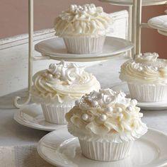 Wedding Cake Cupcakes Recipe | MyRecipes.com Mobile