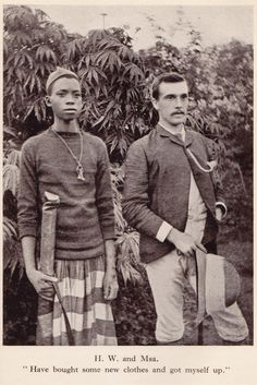 Msa & Herbert Ward - explorer, writer, sculptor - taken from Ward's biography 'A Valiant Gentleman' (by Sarita Ward)