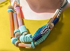 ETSY Craft Party 2015 Inspiration! Make a DIY Statement Necklace In an Hour on Etsy #craftparty