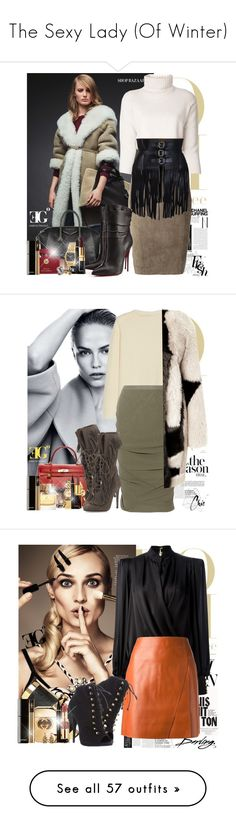 """""""The Sexy Lady (Of Winter)"""" by eleonoragocevska ❤ liked on Polyvore featuring Winter, Sexy, The Row, P.A.R.O.S.H., BCBGMAXAZRIA, Givenchy, Christian Louboutin, NARS Cosmetics, Dolce&Gabbana and Yves Saint Laurent"""