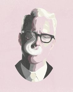 Mad Men's Roger Sterling Art Print