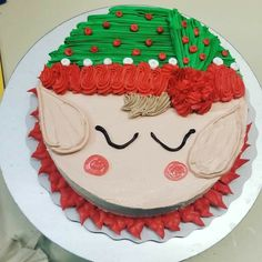 Christmas Tree Cupcake Cake, Christmas Cake Designs, Christmas Deserts, Christmas Cake Decorations, Holiday Cakes, Christmas Baking, Bolo Tumblr, Santa Cake, Sparkle Cake