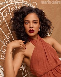 Tessa Thompson is a natural beauty in outdoorsy shoot as she graces the cover of Marie Claire Tessa Thompson, Zendaya, Marie Claire, Pretty People, Beautiful People, Gorgeous Women, Man In Black, Incredible Film, Amazing