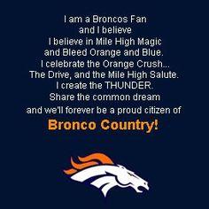 Denver Broncos. Brother/Dad Xmas idea?
