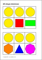 2D shape dominoes (SB3546) - SparkleBox
