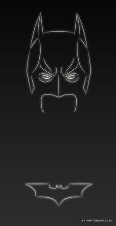 "Batman:  ""Light Superheroes"" illustration series by WhiteRave."
