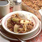 Apple Crisp with Dried Cranberries  via Casual Cuisines of the World via cooking.com