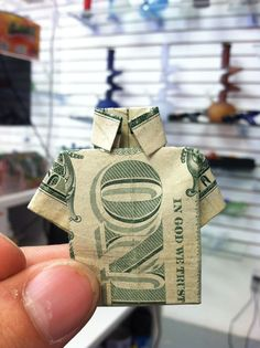how to make a shirt out of a one dollar bill dollar
