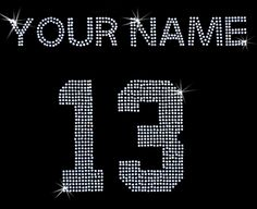 For football mom Custom personalized Jersey number and name rhinestone iron on transfer bling DIY; all capital letters by loveforbling on Etsy https://www.etsy.com/listing/162659561/for-football-mom-custom-personalized