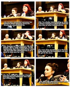 Lily Collins talks about what she likes about Clary Fray.