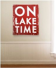Very cool.  I like this one!  On Lake Time - sign