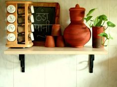 Clay pots and cups a