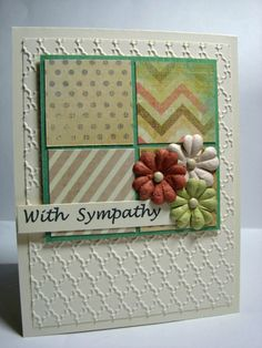 heidi swapp, prima flowers, stampin up, sympathy card