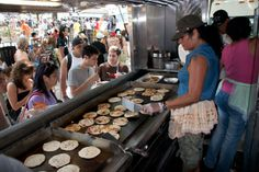 Lined up at the Red Hook ballfields, these Latin American food vendors have been turning out some of the city's best street eats since 1974. Try El Olomega's freshly griddled Salvadoran pupusas and Country Boys' Pueblan sopes while you watch local athletes play ball.  Sat, Sun 9 a.m—9 p.m.: Red Hook Ballfield #1 at Bay and Clinton Sts; Red Hook, Brooklyn More on New York food and drink:Best New Restaurants in New YorkWhere to Eat and Drink Now in New YorkClassic New York Beer Gardens
