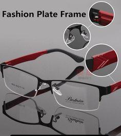 1efc00e55c9 Men Lightweight Fashion Glasses Spectacle Frame Myopia Metal Half-Frame  Women Eye Glasses Frame Optical Prescription Eyeglasses
