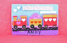 Valentine's Train Card