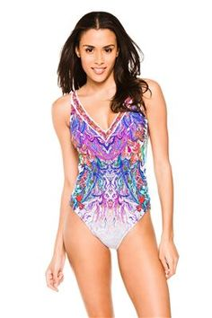 1f824779c98 One Piece Vneck #everythingbutwater #onepiece #swimsuit #Gottex Bathing Suit  Cover Up,