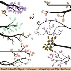 Print Candee - Branch Silhouettes Clipart, $6.00 (http://www.printcandee.com/branch-silhouettes-clipart/)