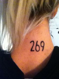269 vegan tattoo for the calf in Israel that was saved. also for the people who died in the holocaust etc