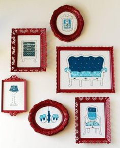 """Great how to on making these great embroidery """"furniture"""""""