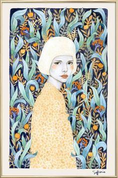 Emilia en Affiche sous cadre en aluminium par Sofia Bonati | JUNIQE