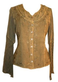 #105 Agan Traders Gypsy Medieval Renaissance Vintage Wedding Embroidered Tunic Top Blouse Agan Traders. $32.99