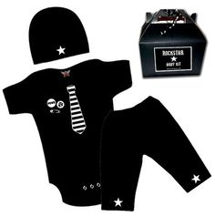 Punk Rock Baby Boy Pants and romper one piece layette by lowleepop, $36.00