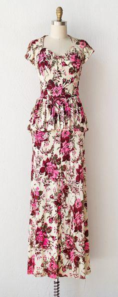 vintage 1940s dress | 40s dress | Beau Time Dress $188