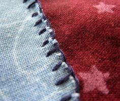 This hand stitch technique gives a folksy, handmade look to a small applique. It takes a bit of time, so you'll probably use it for the occasional embellishment, rather than for an entire, large project. This stitch is worked from the...