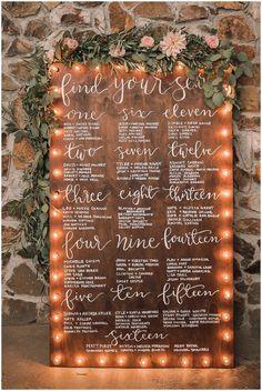 40 Creative and Eye-catching Wedding Seating Chart - Wedding Bodas Boho Chic, Wedding Table Seating, Wedding Seating Charts, Wedding Table Signs, Table Seating Chart, Wedding Seating Arrangements, Wedding Entrance Table, Wedding Table Assignments, Farm Table Wedding