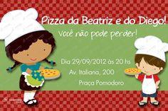 Convite Digital - Pizza #2 | Festas Personalizadas | Lembrancinhas | Scrap Festa | Scrappiness Designs