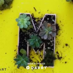 Create Your Own Wall Garden With Paper Mache Letters darbysmart diy diyprojects diyideas diycrafts easydiy artsandcrafts homegardening gardeningideas homedecor farmhousedecor buyablepin modpodge succulents 530158187380905390 Paper Mache Letters, Diy Letters, Letter A Crafts, Diy Crafts Videos, Fun Crafts, Diy And Crafts, Crafts For Kids, Graduation Diy, Diy Papier