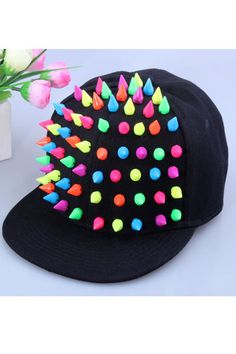 #Romwomen  Candy Color Rivets Black Snapback Cap @Mark Kerr hexed this is what I need for Sunday!!
