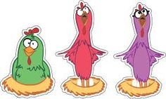 Resultado de imagen para galinha pintadinha personagens para imprimir