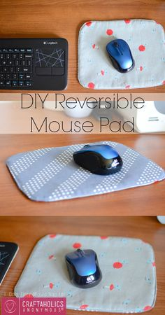 DIY Reversible Mouse Pad || This is perfect for a beginner sewist + great scrap buster!