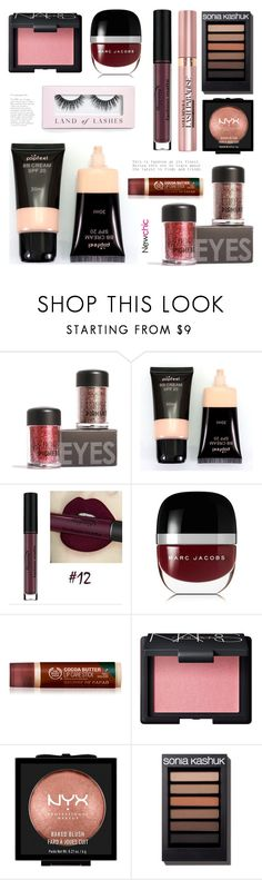 """""""Newchic28: Dark tone"""" by bugatti-veyron ❤ liked on Polyvore featuring beauty, Marc Jacobs, L'Oréal Paris, NARS Cosmetics, NYX and Boohoo"""