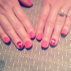 My valentines day nurse nails