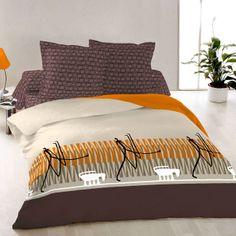 Vivian - Cotton Bed Linen Set (Duvet Cover & Pillow Cases) Cotton Bedding, Linen Bedding, Geometric Bedding, Duvet Cover Design, Bed Linen Sets, Cover Pillow, King Size, Comforters