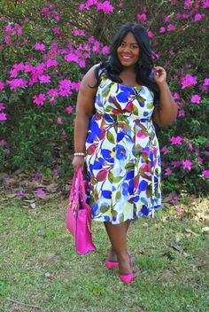 Musings of a Curvy Lady, Plus Size Fashion, Fashion Blogger, Floral Print, Spring Fashion, The London Times Curves, Maggy London, Grisel Angel, Curvy Fashion, Women's Fashion