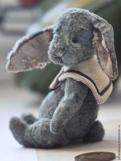 Оливки - серый,антикварный,тортюр,плюшевый,зайчик,зайка,заяц,шарнирный